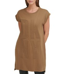 dkny textured logo shift dress