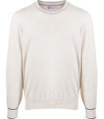 brunello cucinelli long-sleeved sweatshirt - neutrals