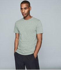 reiss williams - cotton-blend crew neck t-shirt in forest green, mens, size xxl