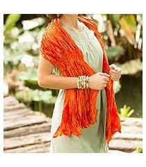 scarf, 'tangerine ruffles' (thailand)