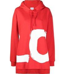oversized love print hoodie