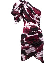 alexandre vauthier red cotton floral mini dress