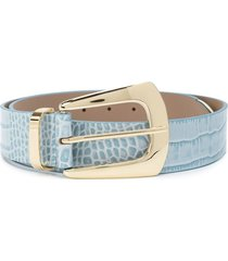 b-low the belt embossed crocodile-effect belt - blue