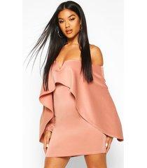 off the shoulder cape sleeve mini dress, rose