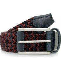 anderson woven navy dark red belt b0667