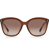 women's kate spade new york pella 55mm gradient cat eye sunglasses - brown/ brown gradient
