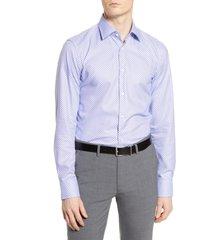 men's boss slim fit geometric travel dress shirt