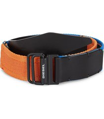 diesel men's b-flaw colorblock belt - black - size 90 (36)
