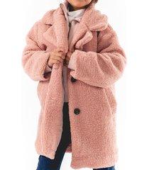abrigo woolly casual rosa going merry