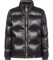 moschino logo quilted nylon down jacket