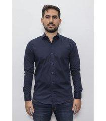 camisa azul el genovés elastizada