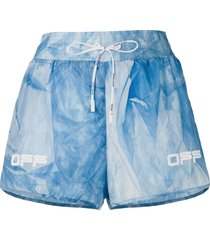 off-white active tie-dye shorts