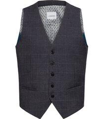 checked waist coat kostymväst grå lindbergh