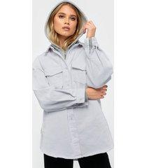 missguided superoversized denim shirt skjortor