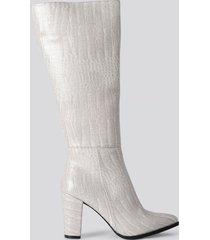 trendyol croco high boots - grey