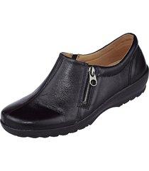 breda skor med resår och dragkedja naturläufer svart