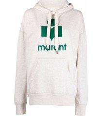 isabel marant étoile mansel logo-print hoodie