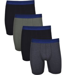 isotoner signature men's 4 pack cotton stretch boxer brief