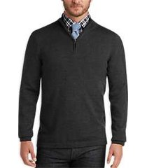joseph abboud charcoal merino wool sweater