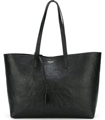 saint laurent large unstructured shopper tote - black