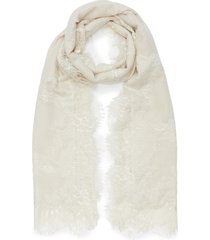 chantilly lace border silk-cashmere scarf
