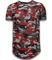 long fit camo shirt chest pocket
