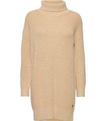 roll neck sweater dress jurk knielengte crème calvin klein jeans