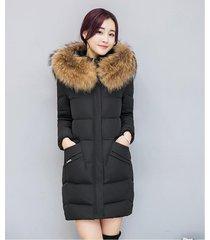 2017 winter women jacket fashion long thick warm down cotton jacket women high q