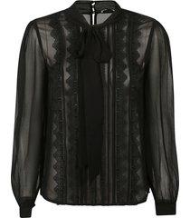 chiffon bow blouse
