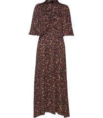 costume x inwear long dress maxi dress galajurk bruin inwear