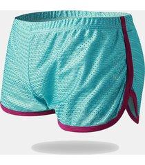 uomo boxer sciolto sportivo in mesh traspirabile shorts domestici