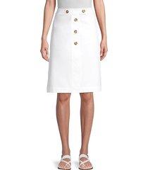 lafayette 148 new york women's taya skirt - white - size 14