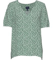 d2. summer floral blouse blouses short-sleeved groen gant