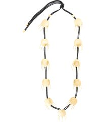 josie natori tulip cord necklace - black