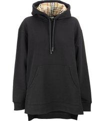 burberry aurore s13 - stepped hem cotton oversized hoodie