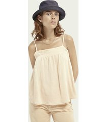 scotch & soda crepe organic cotton tank top