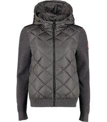 canada goose hybridge knitted full zip hoodie