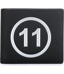 maison margiela folding wallet - black