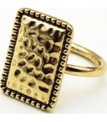 anillo rectángulo dorado i-d
