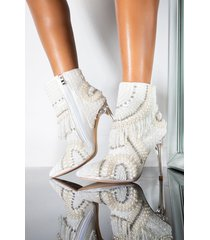 akira azalea wang illusions can be deceiving stiletto bootie in white