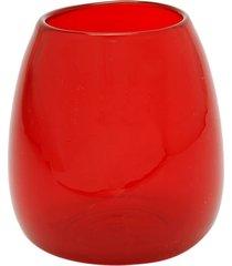 vaso bianco & nero cerise vermelho 15x12cm  vermelho - tricae