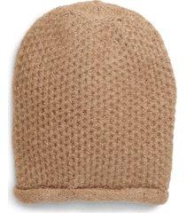 women's free people dreamland knit beanie - beige