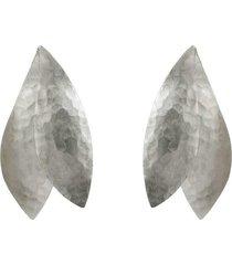 natori hammeredss silver pendant clip earrings, women's