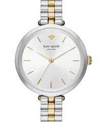 kate spade new york holland bracelet watch, 34mm in silver/gold at nordstrom