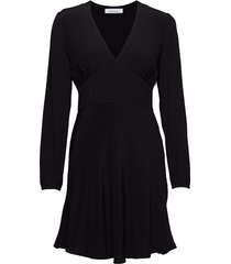 cindy short dress ls 10056 jurk knielengte zwart samsøe samsøe