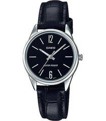 reloj analógico mujer casio ltp-v005l-1b - negro  envio gratis*