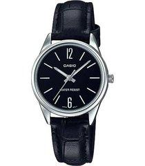 reloj analógico mujer casio ltp-v005l-1b - negro