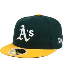 new era kids' oakland athletics authentic collection 59fifty cap