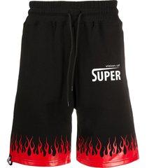 vision of super flame hem shorts - black