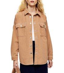 women's topshop corduroy overshirt jacket
